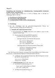 Thema 13 Wortbildung und Wortschatz im ... - Germanistik