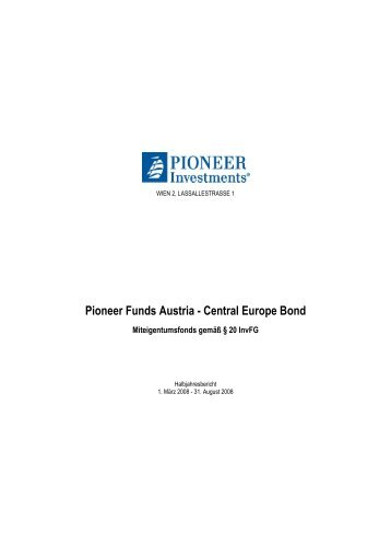 Pioneer Funds Austria - Central Europe Bond - PrimeIT