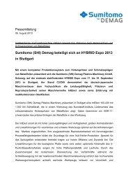 Sumitomo (SHI) Demag beteiligt sich an HYBRID Expo 2013 in ...