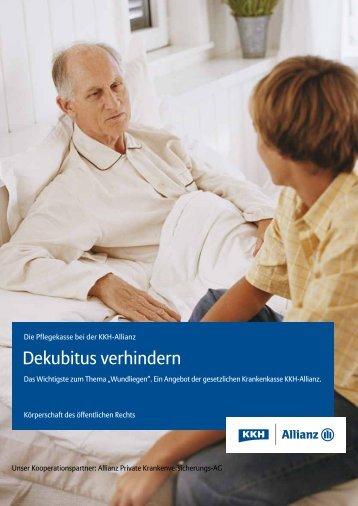 Dekubitus verhindern - Hilfreiche Hände eV
