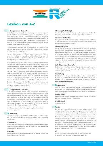 Lexikon von A-Z - Technicoll