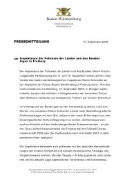 PM UA FEK Freiburg - Polizei Baden-Württemberg
