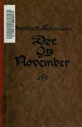 Der 9. November : Roman