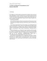 Variablen multilingualer Kommunikation an der ... - Brennercom