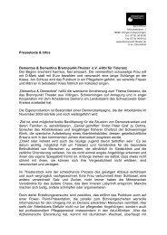 Pressetexte & Infos Dementus & Dementine Brennpunkt-Theater eV ...