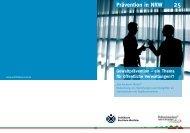 Broschüre Gewaltprävention - ein Thema für öffentliche Verwaltungen