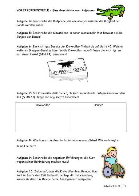 Vorstadtkrokodile deutscharbeit