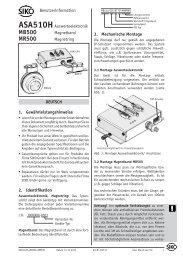 Benutzerinformation PDF - SIKO GmbH