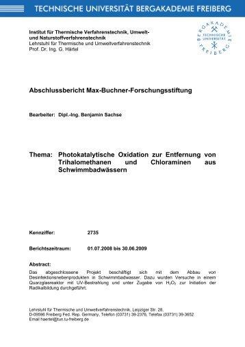 Photokatalytische Oxidation zur Entfernung von ... - Dechema