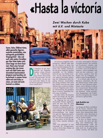 Zwei Wochen durch Kuba mit ö.V. und Mietauto - Globetrotter-Magazin