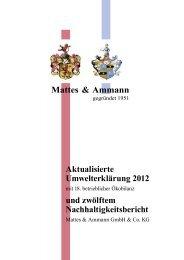 Mattes & Ammann Aktualisierte Umwelterklärung 2012 und ... - EMAS