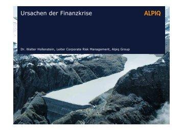 Ursachen der Finanzkrise - Netzwerk Risikomanagement