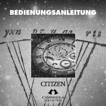 BEDIENUNGSANLEITUNG - citizen