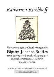 Untersuchungen zu Bearbeitungen des Päpstin-Johanna-Stoffes ...