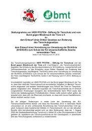 Stellungnahme des bmt und Vier Pfoten zur EU ...