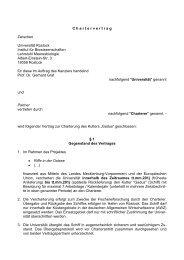 C h a r t e r v e r t r a g Zwischen Universität Rostock Institut für ...