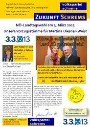 NÖ-Landtagswahl am 3. März 2013 Unsere Vorzugsstimme für ...