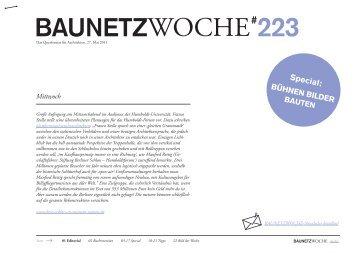 """Baunetzwoche#223 """"Bühnen Bilder Bauten"""""""