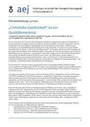 Christliche Gastlichkeit - Arbeitsgemeinschaft der Evangelischen ...