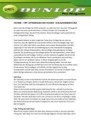 TECHNIK – TIPP: OPTIMIERUNG DER TECHNIK ...