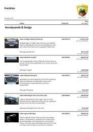 Preisliste Aerodynamik & Design - Arden