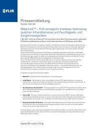 Pressemitteilung - Flir Systems