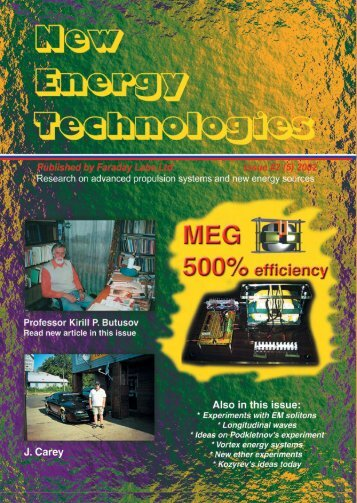 Issue 5 - Free-Energy Devices, zero-point energy, and water as ...