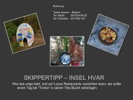 SKIPPERTIPP – INSEL HVAR