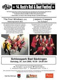 Schlosspark Bad Säckingen Samstag, 25. Juni 2005, 18.30 - 24.00 ...