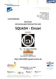 SQUASH - Einzel - Allgemeiner Deutscher Hochschulsportverband