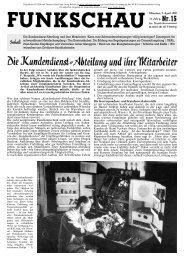 Funkschau 12. Jahrgang Heft 15 1939 - Radiomuseum.org