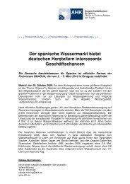 Der spanische Wassermarkt bietet deutschen Herstellern ...