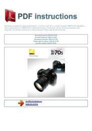 Használati utasítás NIKON D70S - 1