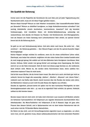 Die Qualität der Sicherung Januar-99 - zingg-satire.ch