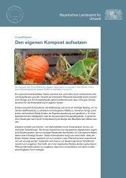 Bayerisches Landesamt für Umwelt - Den eigenen Kompost aufsetzen