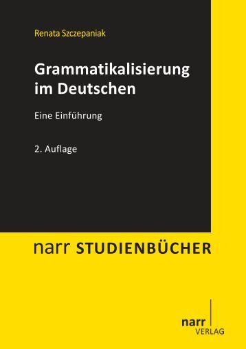 Grammatikalisierung im Deutschen. Eine Einführung - Narr
