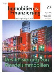 Revitalisierung von Handelsimmobilien - FOCUS REAL ESTATE AG