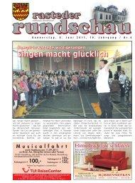 rasteder rundschau, Ausgabe Juni 2011