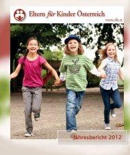 Jahresbericht 2012 - Verein Eltern für Kinder