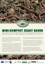 Infoblatt Minikompost - umweltberatung