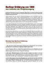 Berliner Erklärung von 1909.Pfingstbewg - Evangelische ...