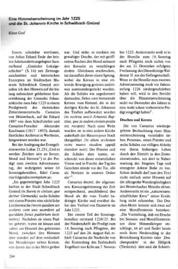 Eine Himmelserscheinung im Jahr 1225 und die St ... - FreiDok