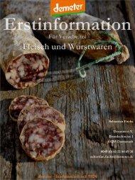 Erstinformation: Fleisch und Wurstwaren - Demeter