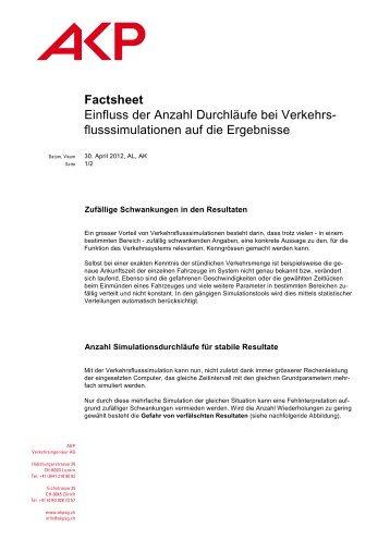 Factsheet Einfluss der Anzahl Durchläufe bei Verkehrs ... - AKP AG