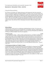 Presseinformation Modellbau und Automodelle, September ... - Busch