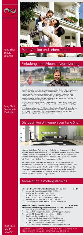 PDF Anmeldung zum Feng Shui Vortrag - Wendelin Niederberger