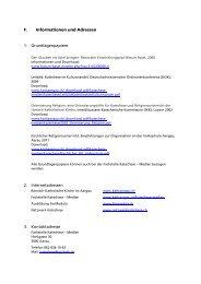 Informationen und Adressen, Beauftragung zum katechetischen ...