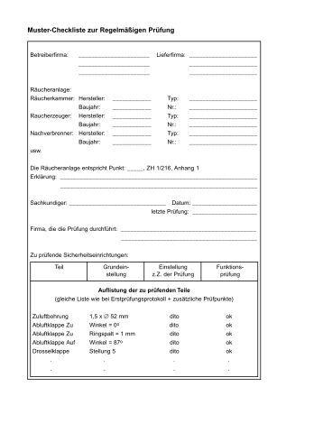 muster checkliste zur regelmigen prfung - Staffelmietvertrag Muster