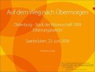 Oldenburg - Stadt der Wissenschaft 2009 - Stifterverband für die ...