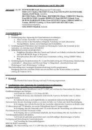 Sitzung des Gemeinderates vom 25. März 2009 Anwesend : die HH ...